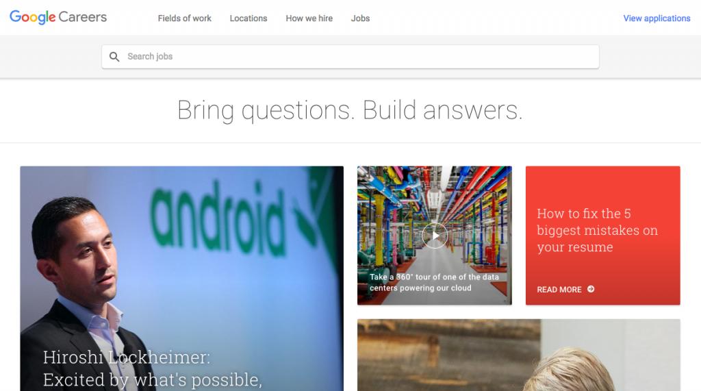 Google新卒サイト